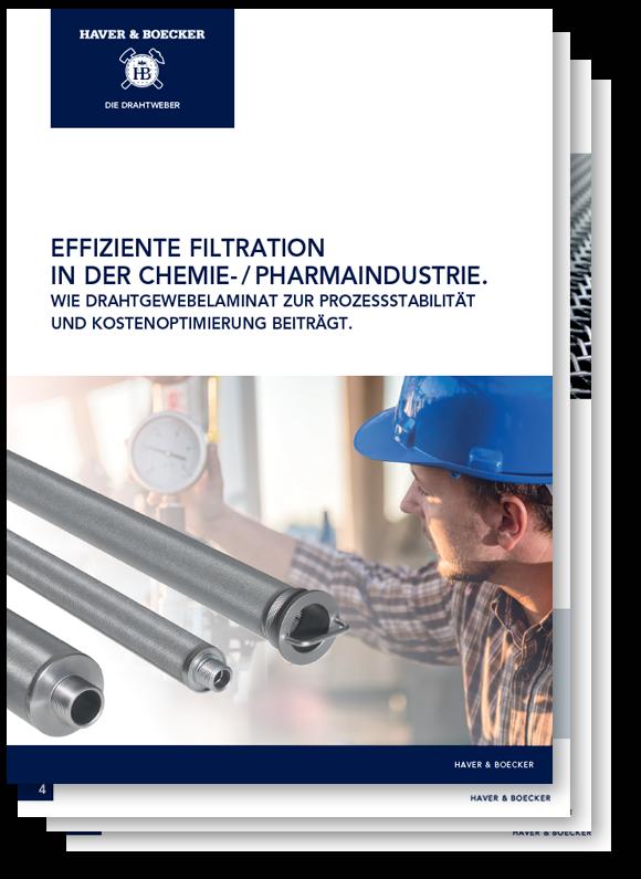 Effiziente Filtration in der Chemie- und Pharmaindustrie.